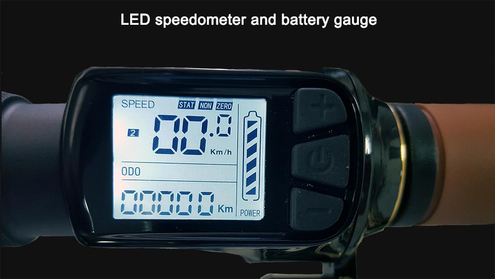 Speedometer and battery gauge