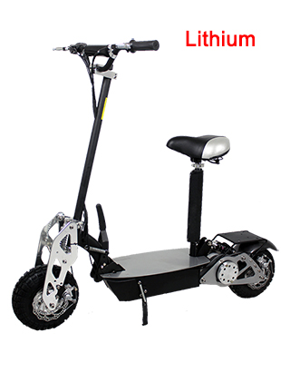 Super Turbo Chrome 1200 watt Lithium Electric Scooter
