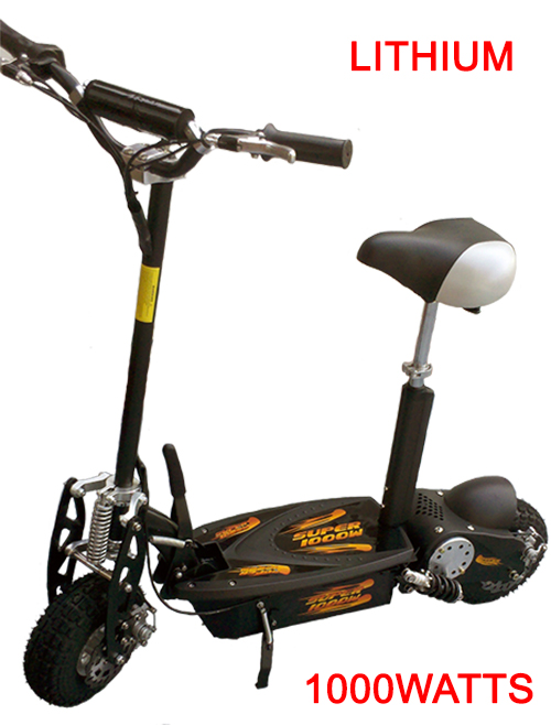 Turbo-Charged 1000 Watt Lithium Scooter