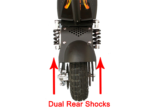 Dual rear shocks