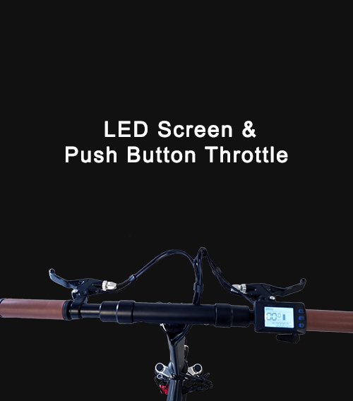 LED Screen & Push Button Throttle