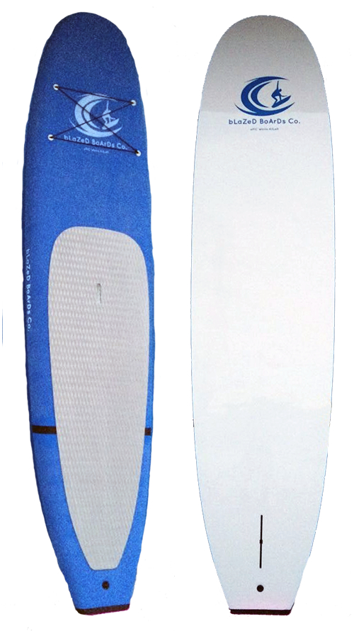 front and back view of paddle board