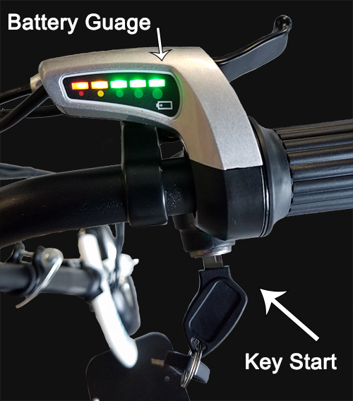 Battery Gauge and Key Start