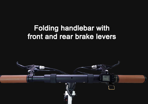 Folding handlebar with front and rear brake levers